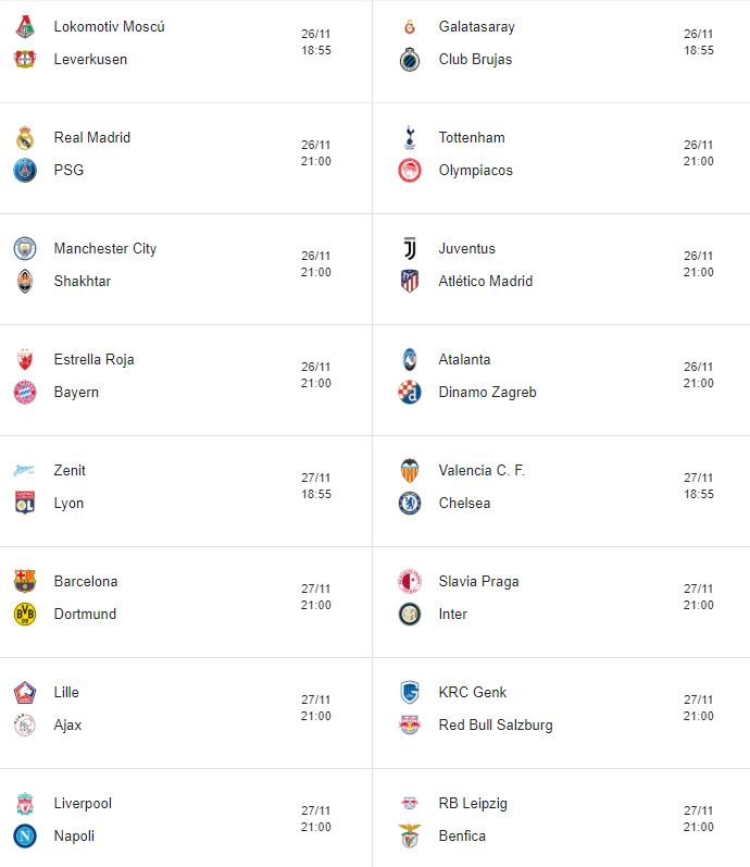 Calendario Champions League 2019-2020. Calendario UEFA Champions. Calendario y horarios de la Champions League 2019/20. Cruces eliminatorias Champions League. Emparejamientos de la Champions League. Fechas, horarios  y transmisiones de TV de la Champions League. Calendario completo de todos los juegos de la Champions League. Calendario de fútbol.