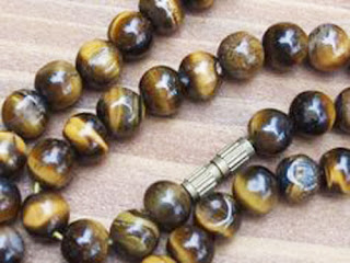 Antique Tigers Eye bead necklace