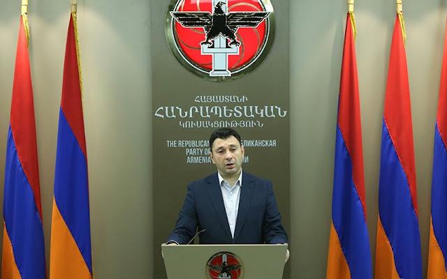 Sharmazanov acusa a Pashinyan de llegar al poder por chantajes y amenazas