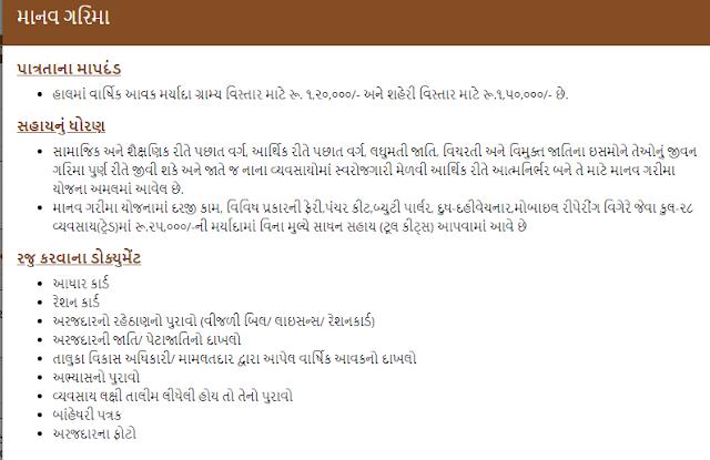 Manav Garima Yojana In Gujarati