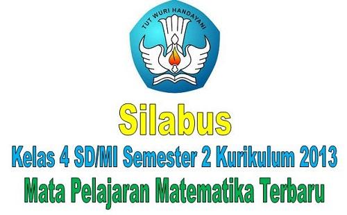Silabus Kelas 4 SD/MI Semester 2 Kurikulum 2013 Mata Pelajaran Matematika Terbaru