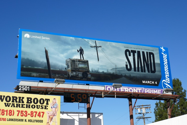 Stand Paramount plus launch billboard
