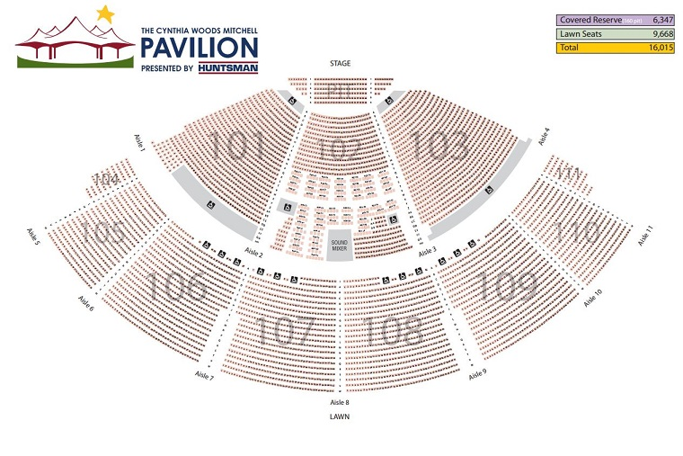 There S No Such Thing As A Bad Seat At The Cynthia Woods Mitchell Pavilion But When Deciding Which Seats May Best Serve Your Needs And Interests