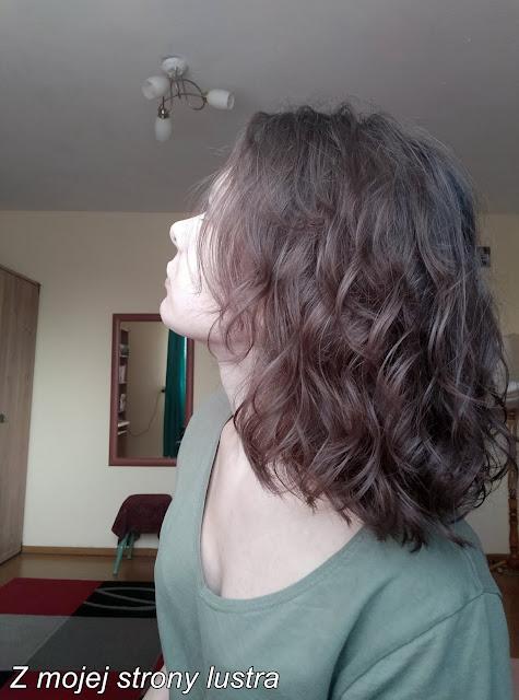 włosy po masce fanola curly shine