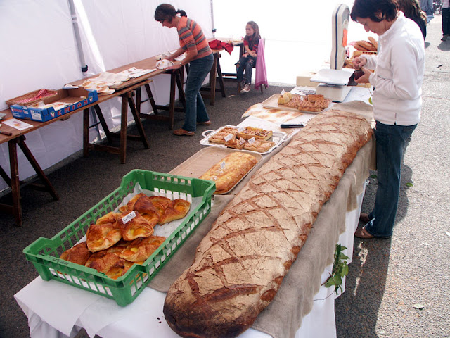 Long loaf made for a food and art festival, Indre et Loire, France. Photo by Loire Valley Time Travel.