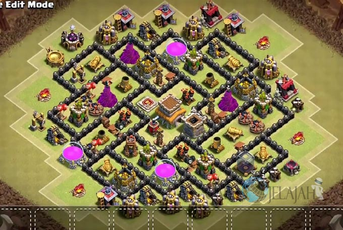 Base War TH 8 di Clash Of Clans Terbaru 2017 Tipe 15