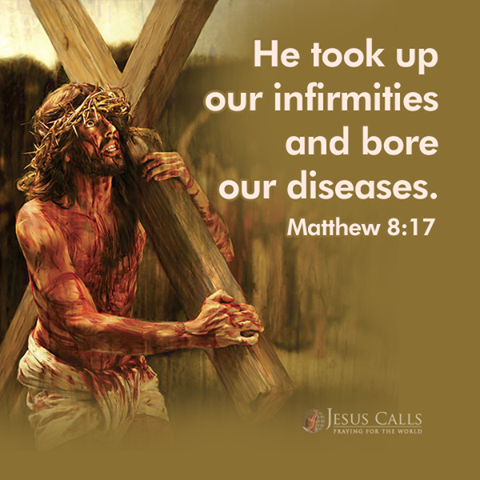 He took up our infirmities and bore our diseases