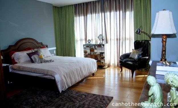 phòng ngủ căn hộ penhouse the everrich