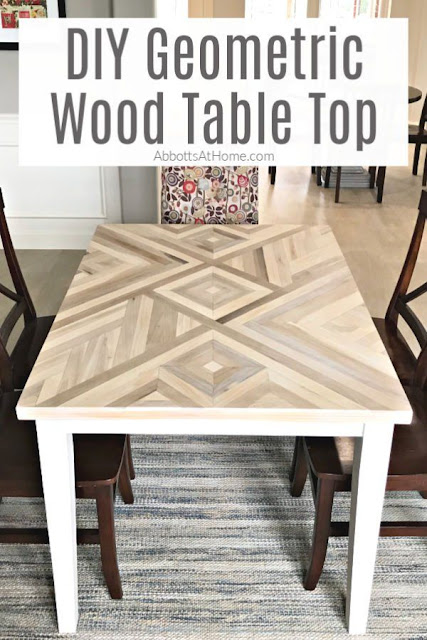 DIY Geometric Wood Table Top