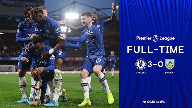 Chelsea 3-0 Burnley, Jorginho, Tammy Abraham & Hudson Odoi On Target (Details, Photos & Highlight)