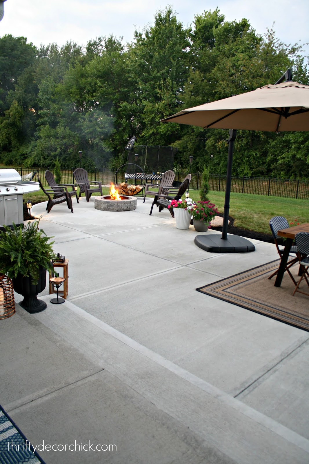 Concrete instead of stamped concrete or deck