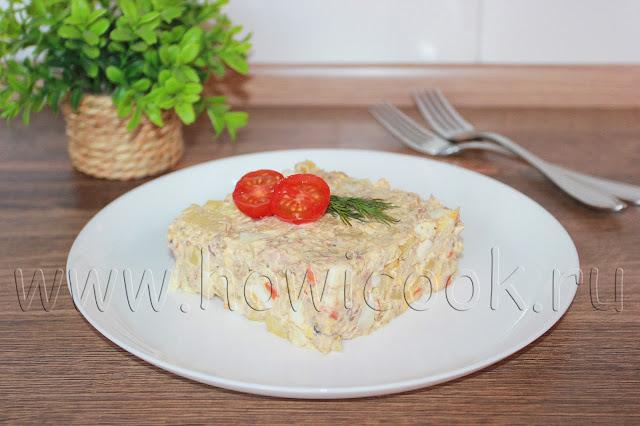 рецепт рыбного салата