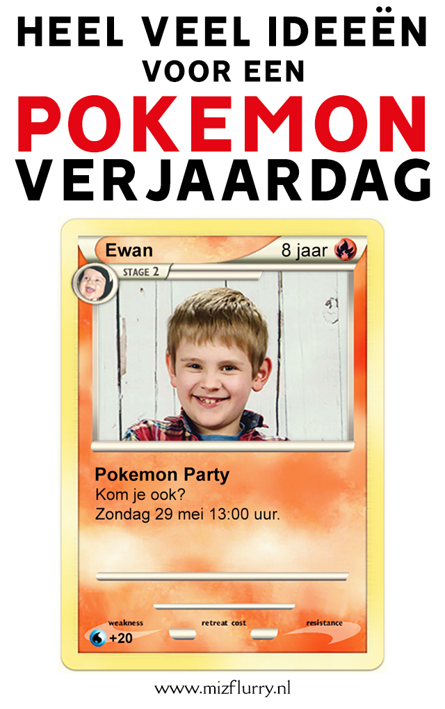 Pokemon verjaardagsideeen