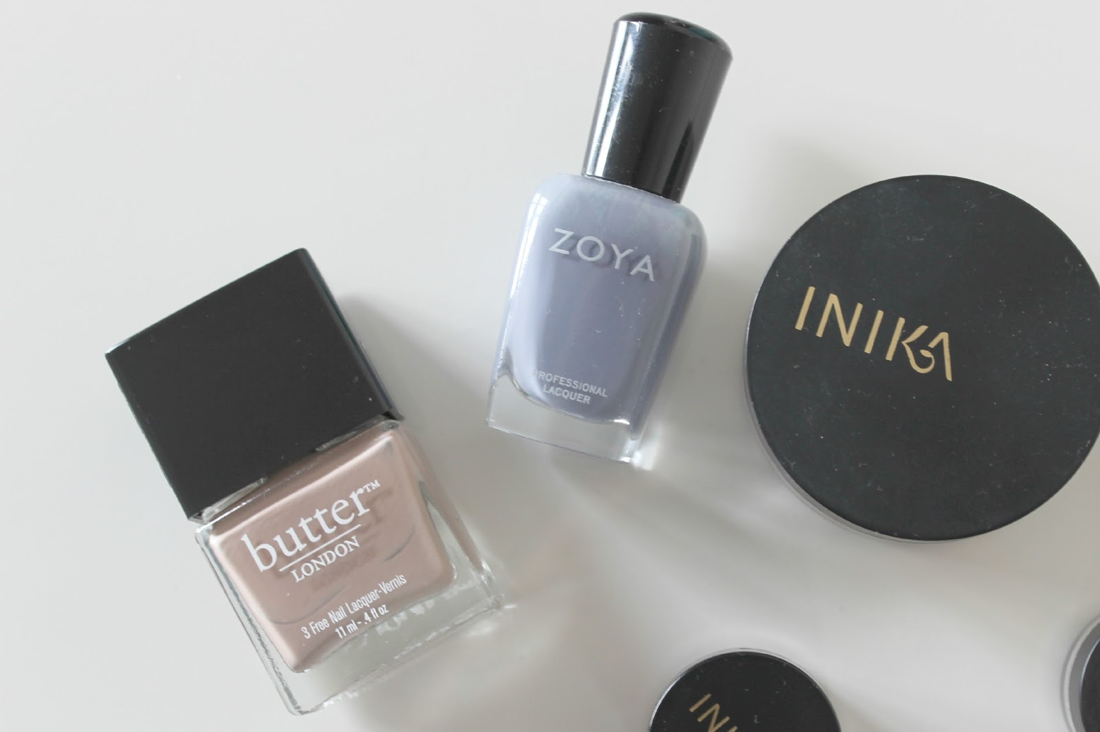 A picture of Organic Nail Polishes by Butter London and Zoya