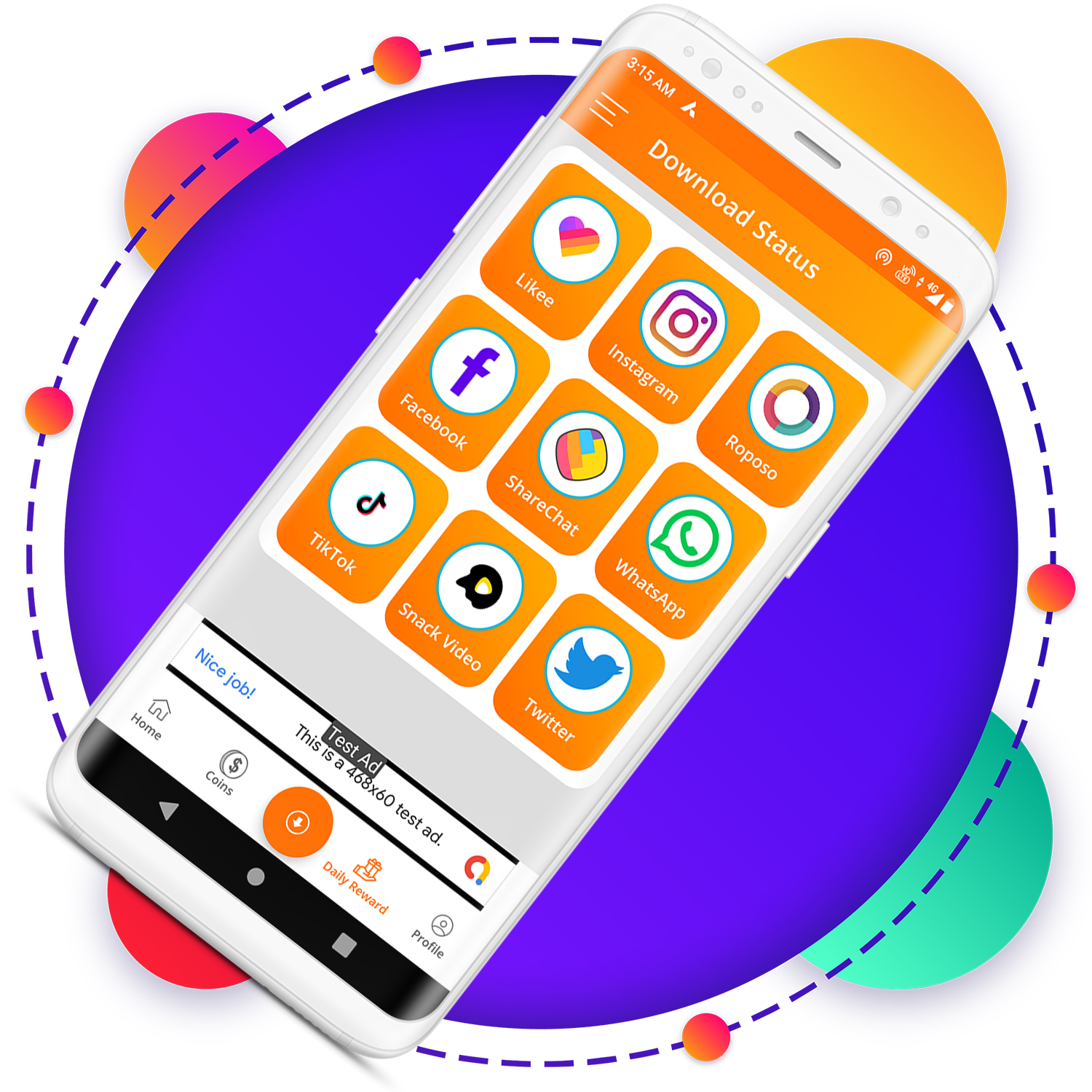 QuickCash All In One Money Earning Android App + Games + WhatsApp Tools + Earning System Admin Panel - 3