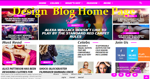 How to Design Blog Homepage Layout like Pro.
