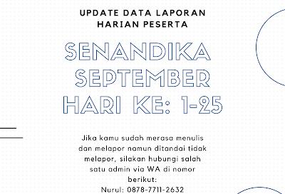 Update Rekap Laporan Harian Senandika September