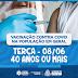 VACINA: BONFIM INICIA VACINAÇÃO PARA PESSOAS DE 40 ANOS ACIMA E OUTRAS FAIXAS ETÁRIAS DE GRUPOS PRIORITÁRIOS