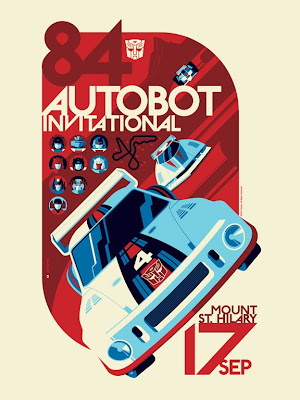 "Acidfree Gallery - ""Autobot Invitational"" Transformers Variant Screen Print by Tom Whalen"