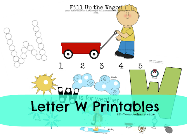 letter w toddler printables