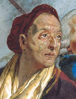 Tiepolo painted his self-portrait in around 1753