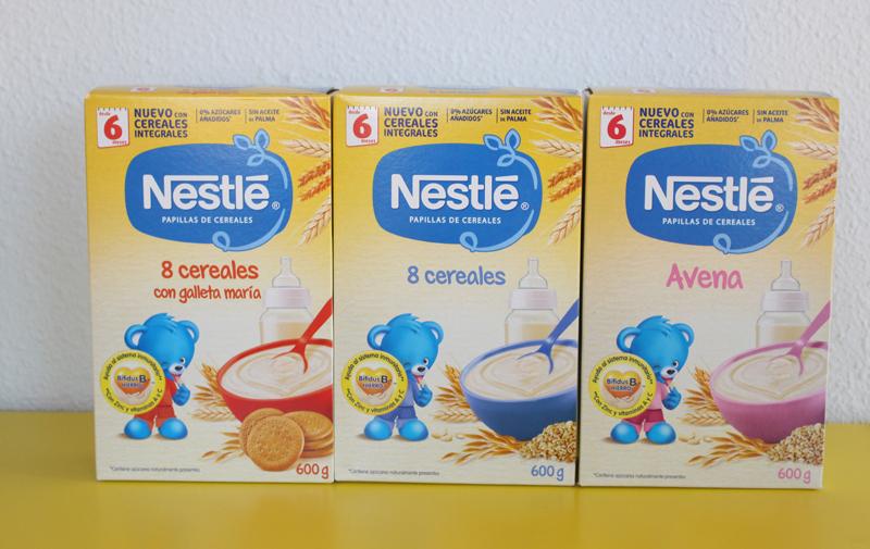 Papillas cereales Nestlé