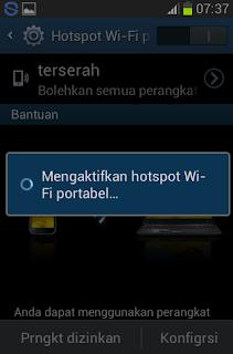 Menjadikan Android Jellybean Sebagai Hotspot Wifi