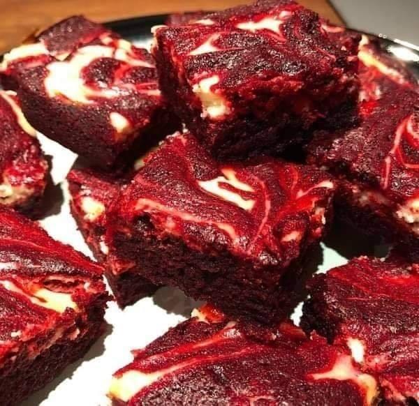Resepi Red Velvet Cream Cheese Brownies Tanpa Mixer