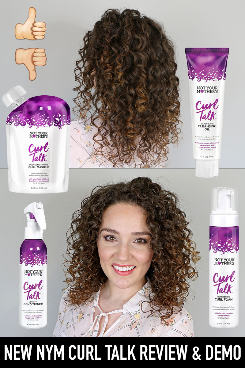 NEW Not Your Mother's Curl Talk Products Review & Demo