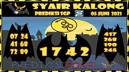 Syair Kalong SGP Sabtu 05-Jun-2021