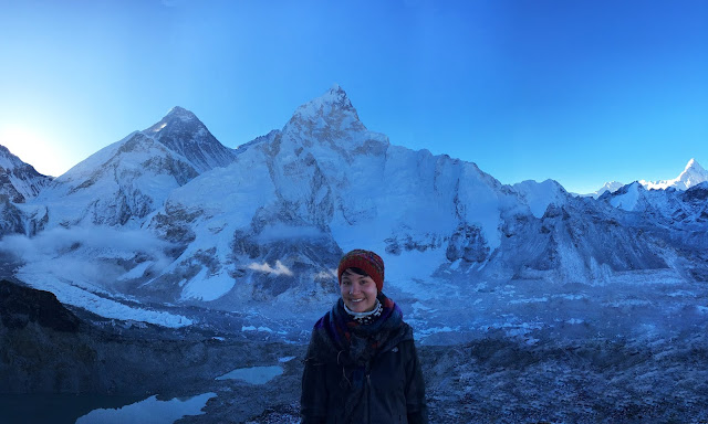 Camille Lake with Mount Everest in the background