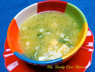 Pineapple Cucumber Gazpacho | Ms. Toody Goo Shoes