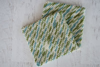 super easy crochet hotpad