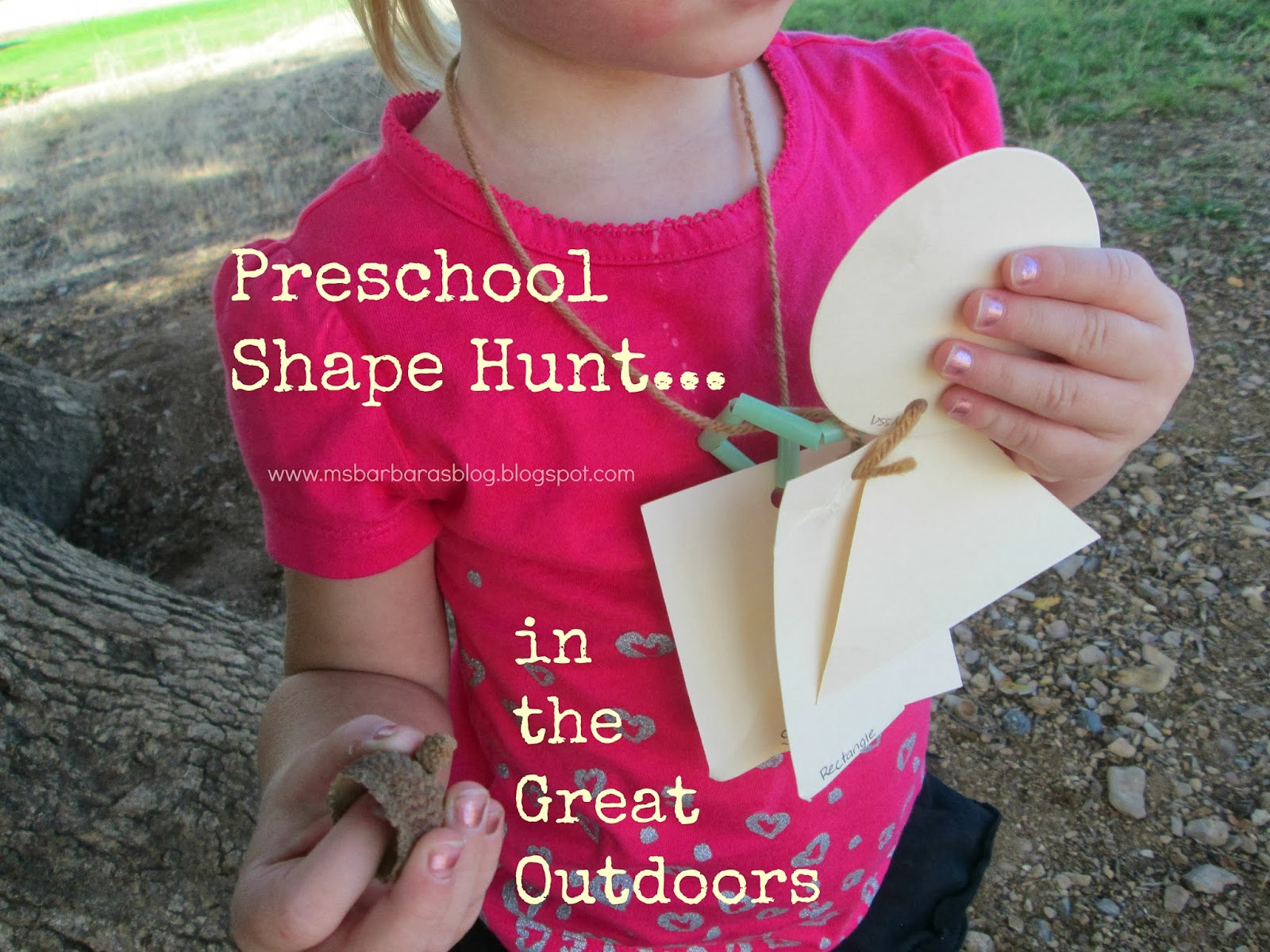 For The Children Preschool Shape Hunt The Great Outdoors
