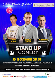 Stand-Up Comedy Joi 13 Octombrie Bucuresti