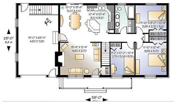 Planos casas modernas agosto 2013 for Plano casa minimalista 3 dormitorios