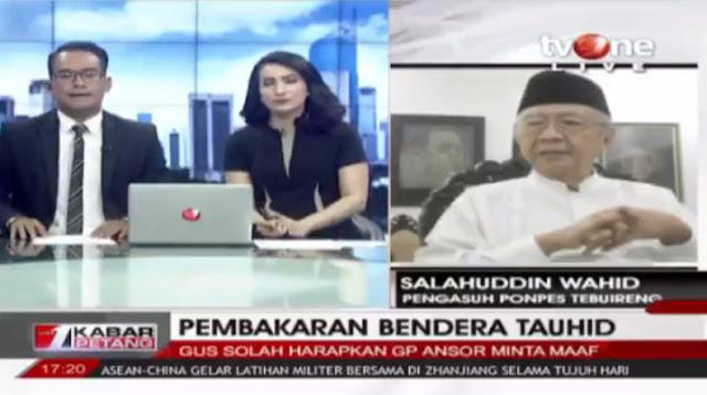 Gus Sholah Minta GP Ansor Sampaikan Permohonan Maaf