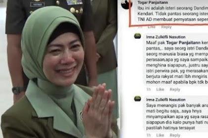 Ditegur Soal Status Nyinyiri Wiranto, Irma Zulkifli Sebut Profesi Ayah, Kakek, Ponakan