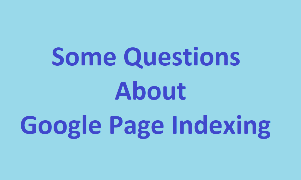 google page indexing