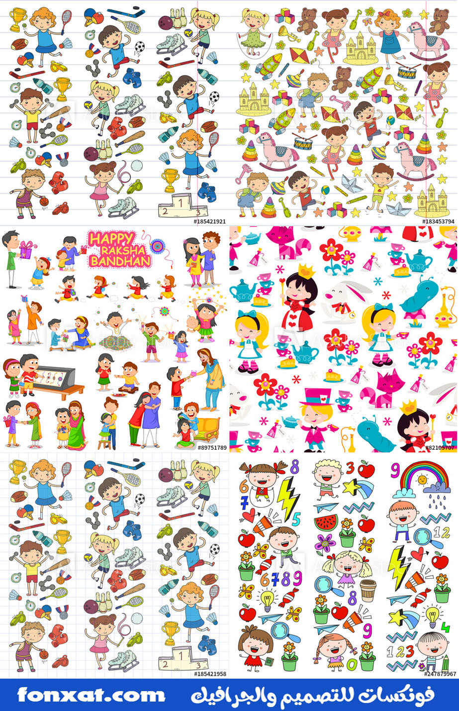 Download the highest quality children's cartoon designs collection, cartoon designs free to download