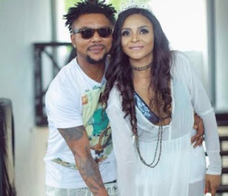 Oritsefemi Apologizes Publicly To His Wife, Nabila For Beating Her Up In Front Of Their Daughter