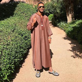 محمد رمضان بالزي المغربي في مدينة مراكش