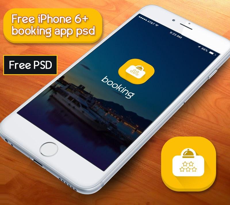 Booking App UI PSD