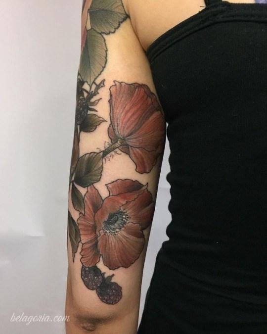 preciosos tatuajes de flores