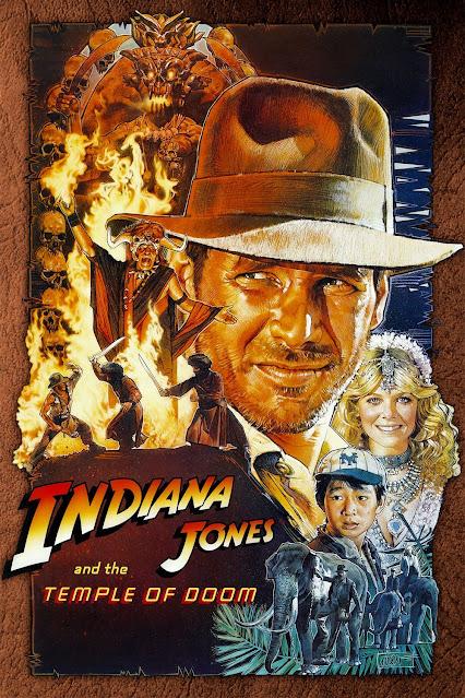 Póster película Indiana Jones y el templo maldito