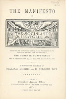 "A title page for ""The Manifesto of the Socialist League."""