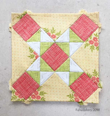 The Farmer's Wife Sampler Quilt (20's)  Block 21 Contrary Wife