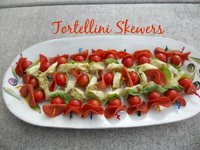 Tortellini Skewers--the perfect appetizer for any gathering