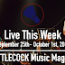 Live This Week: September 25th-October 1st, 2016