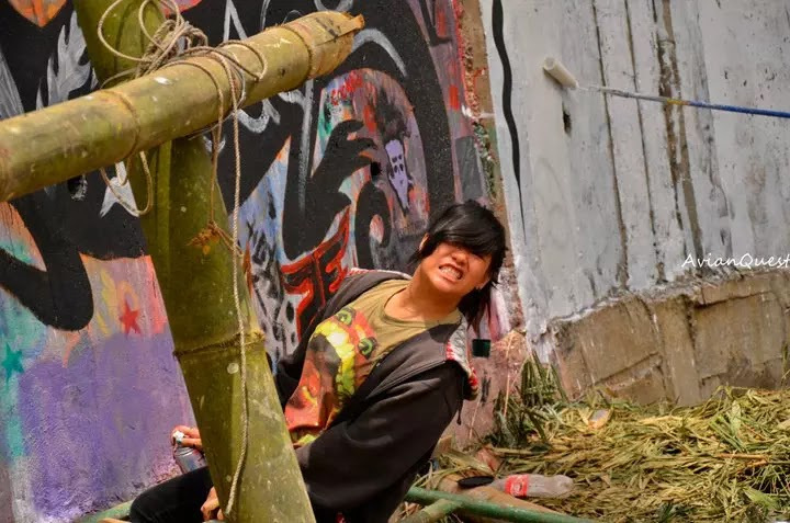 Tamawan Village Making of a Graffitti Mural Baguio City Philippines 11